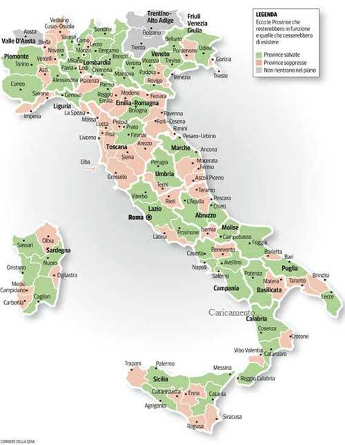 Cartina Italia Capoluoghi Di Regione.Ecco Il Piano Che Dimezza Le Province Evangelista Campagnuolo